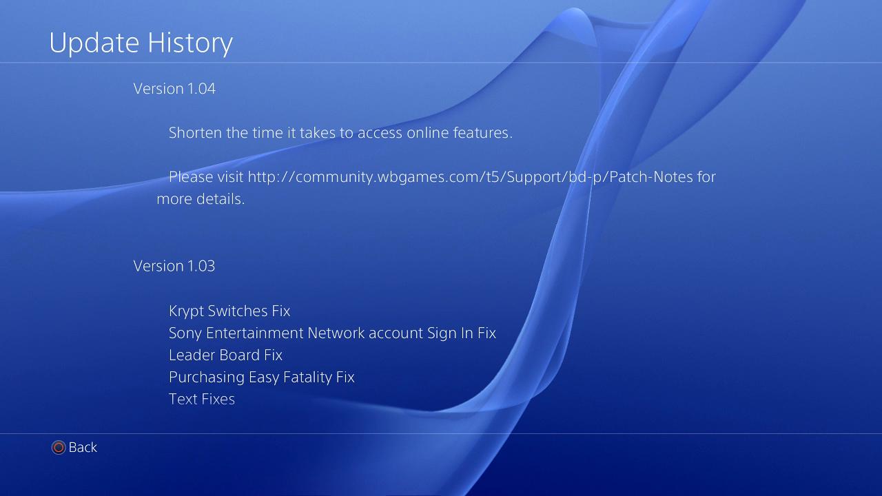 Mortal Kombat X PS4 Patch 1 04 Live Now, Size 3GB, Fix Jason DLC