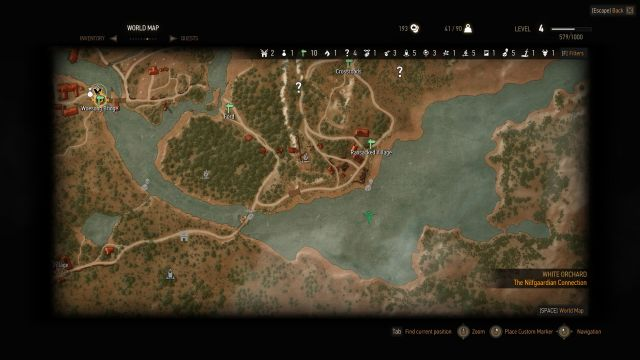 The Witcher 3: Wild Hunt Chest Off-Shore Location
