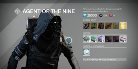 Xur Agent of the Nine May 22 Exotic Gear