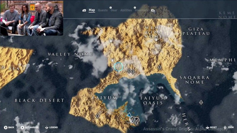 Assassin S Creed Origins Full Map Revealed Looks Bloody
