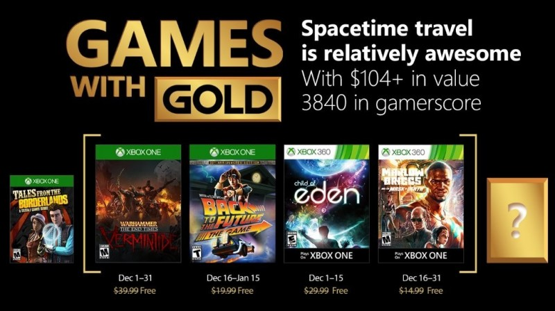 Xbox Live Games with Gold for December 2017 announced