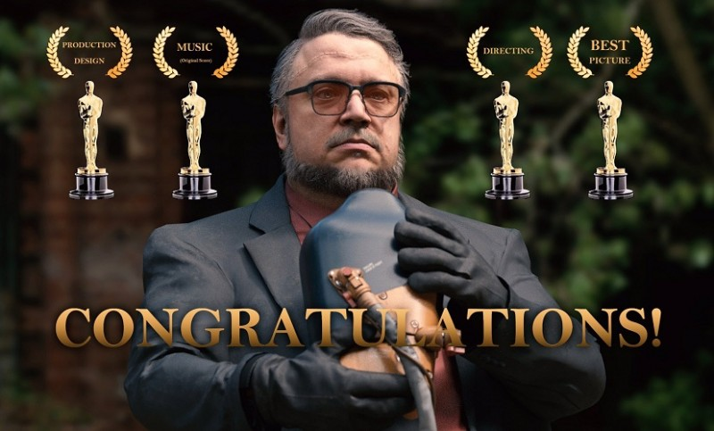 Del Toro - All Oscar 2018 Wins