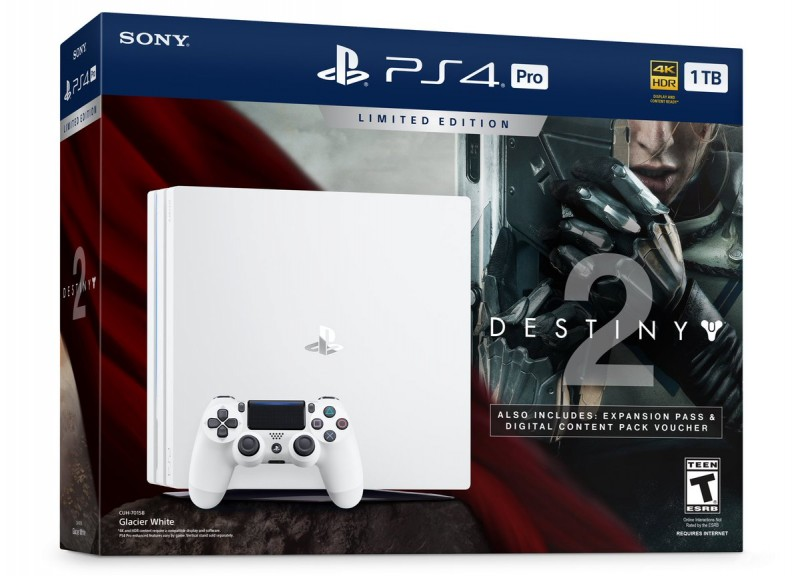 New Glacier White PS4 Pro Bundle Revealed - Comes with Destiny 2