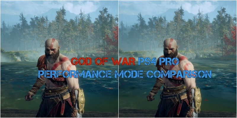 God of War PS4 Pro Performance Mode Comparison Screenshots