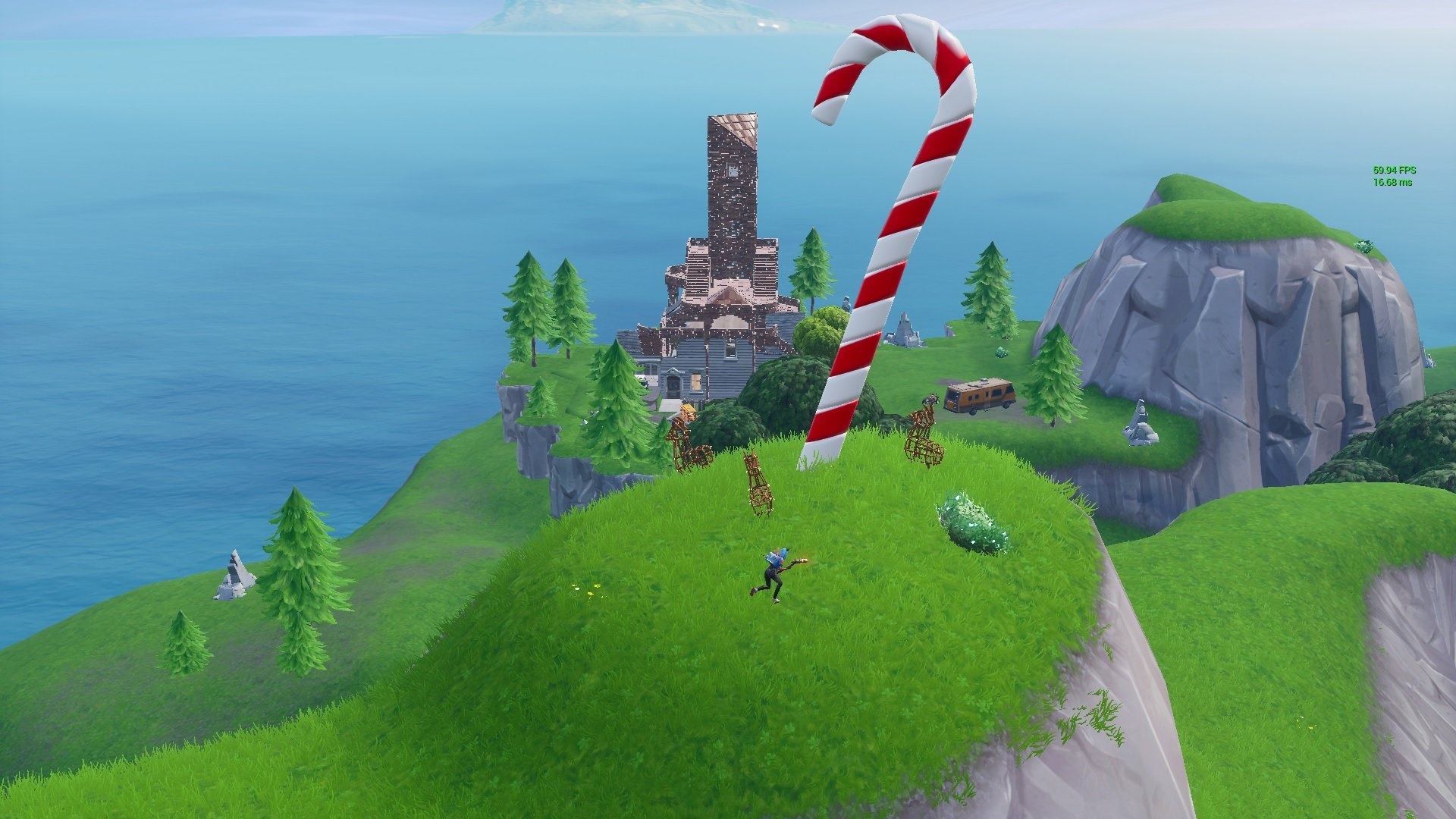 Fortnite Where to Find All Large Candy Canes