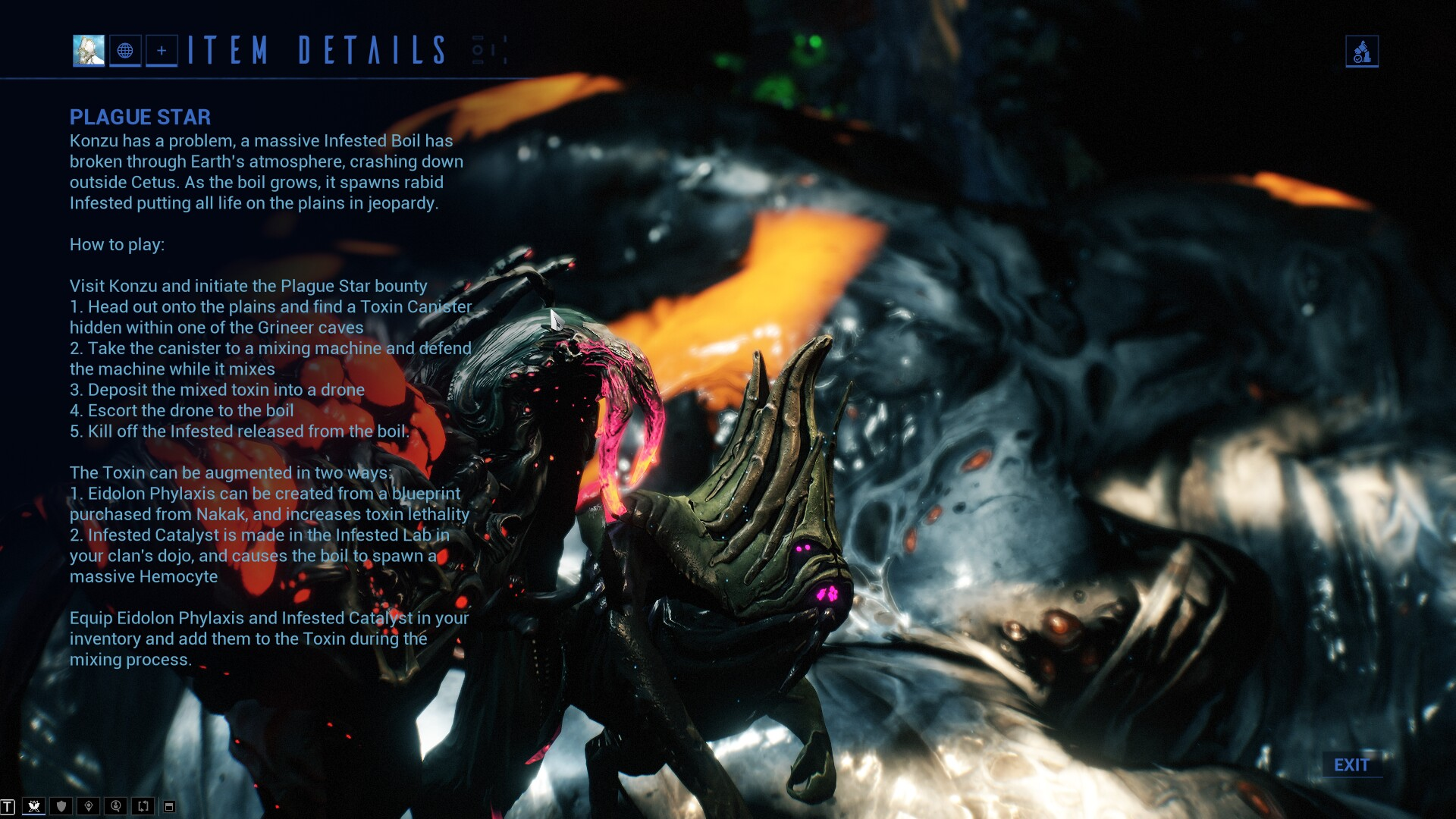 Warframe - How To Kill The Hemocyte During Operation Plague Star