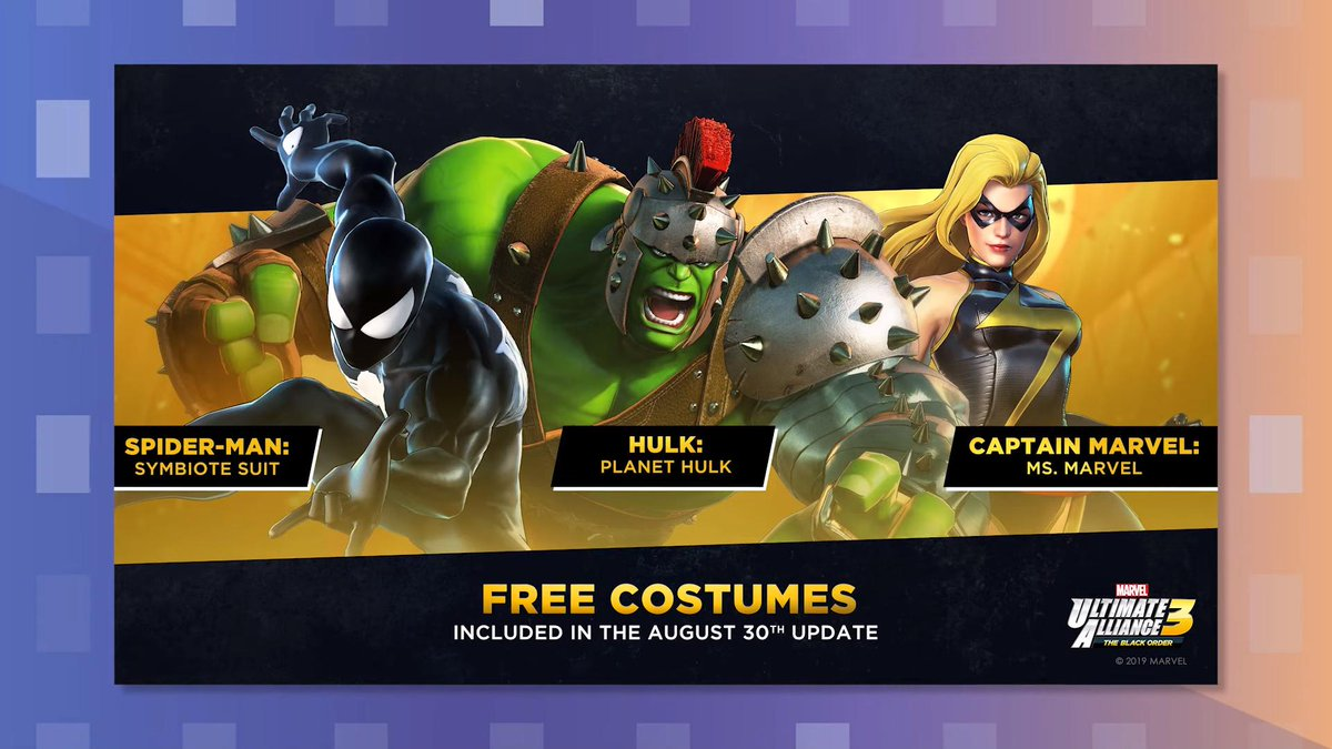 Marvel Ultimate Alliance 3 Characters and New Costumes