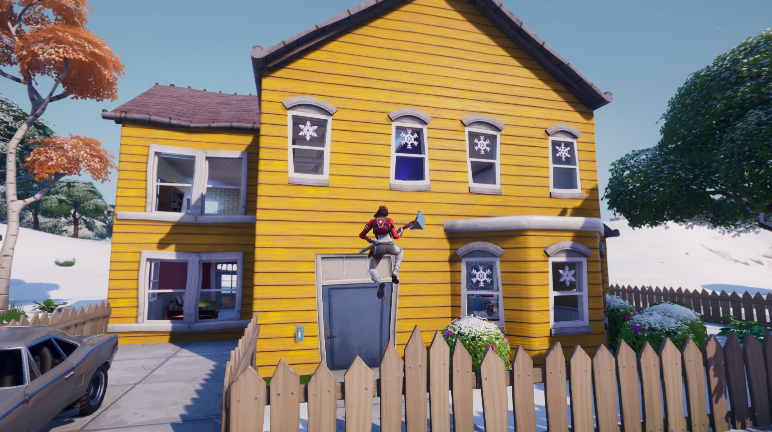 Where to Destroy Snowflake Decorations in Fortnite