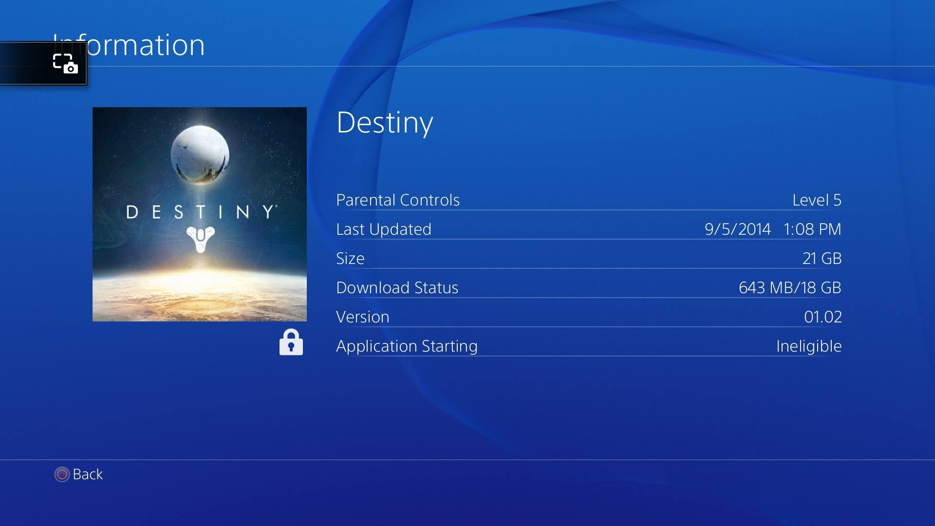 Destiny Available For Pre-load on Playstation 4, Size 21 GB Only