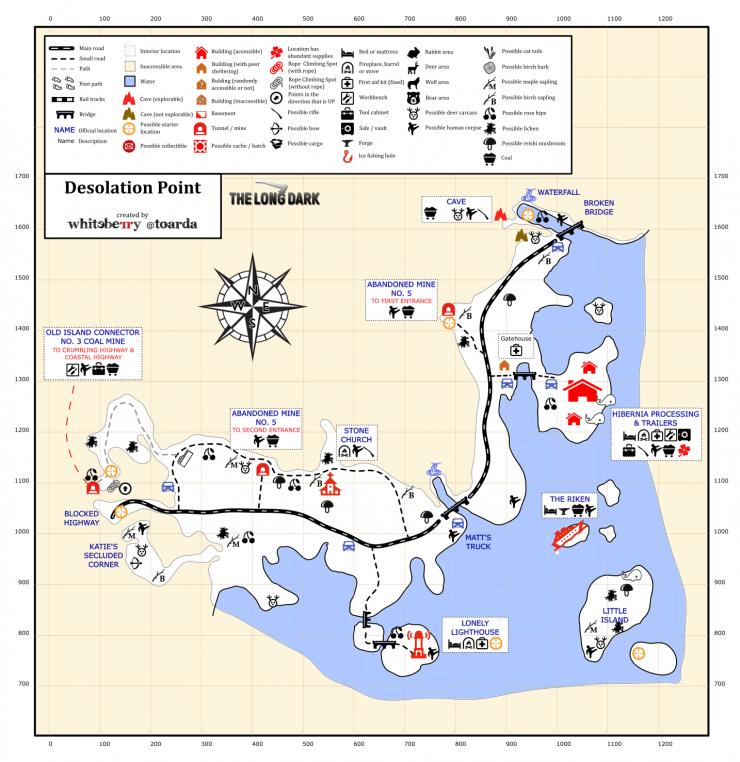 The Long Dark Desolation Point Map