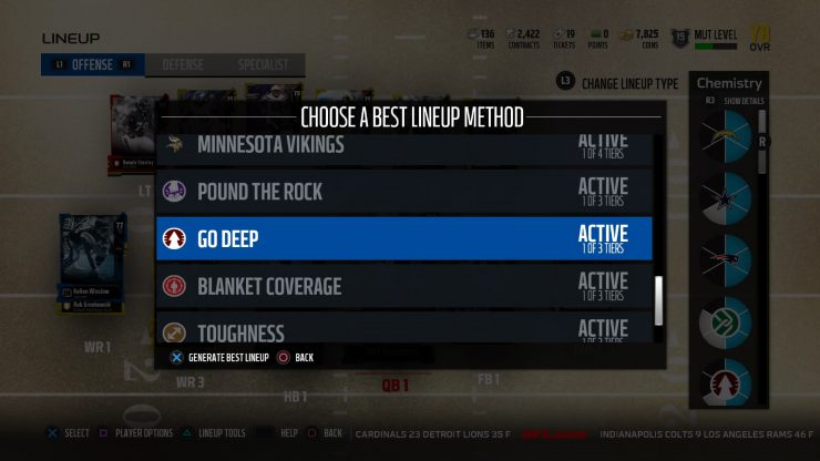 How to Set Your Lineup and Chemistry in MUT