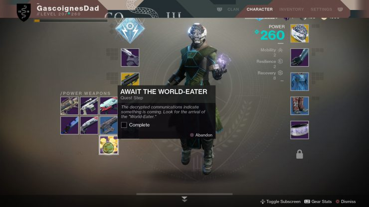 Destiny 2 - The World Eater Mission Guide