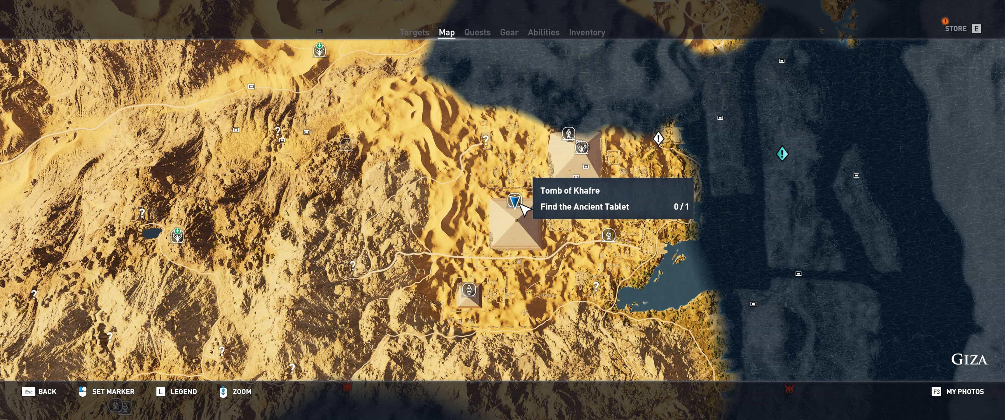 Assassin's Creed Origins - Tomb Locations - Tomb of Khafre ...
