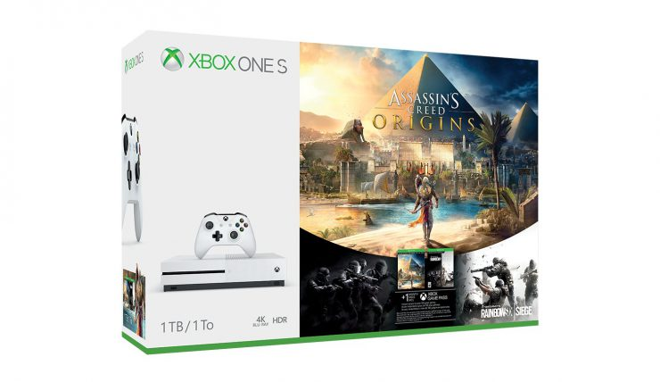Pet Cats with Assassin's Creed: Origins Xbox One S Bundle