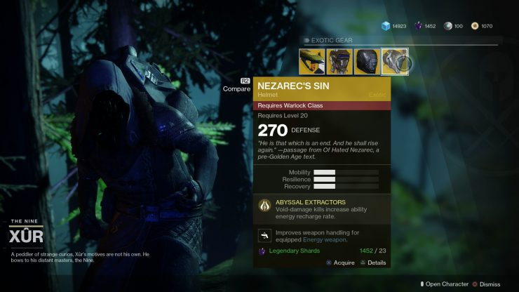 Destiny 2 - Xur Location 6th to 8th Oct 2017