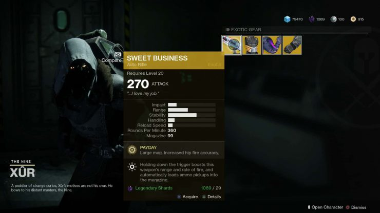 Destiny 2 - Xur Location 20th to 22nd Oct 2017