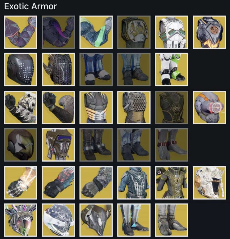 What Exotic Armor and Weapons Am I Missing in Destiny 2?