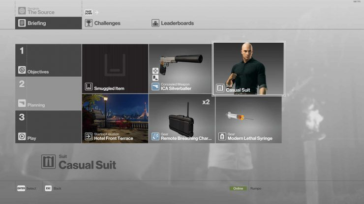 Hitman The Source Silent Assassin Suit Only