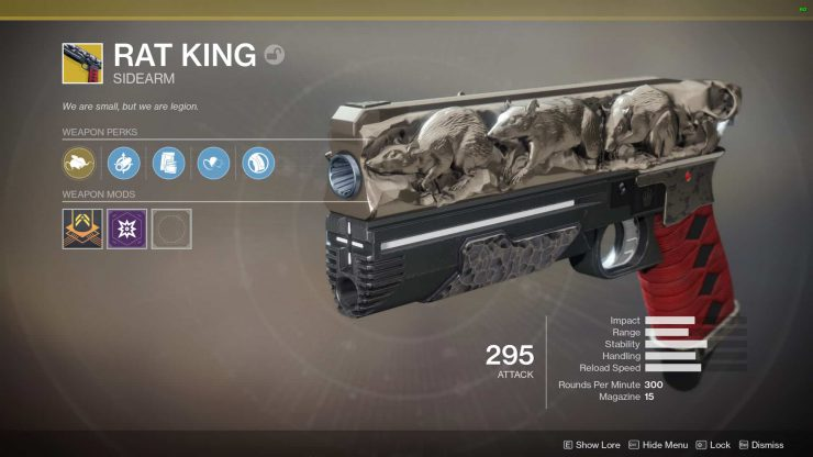 Destiny 2 - Rat King Exotic Sidearm Quest Guide