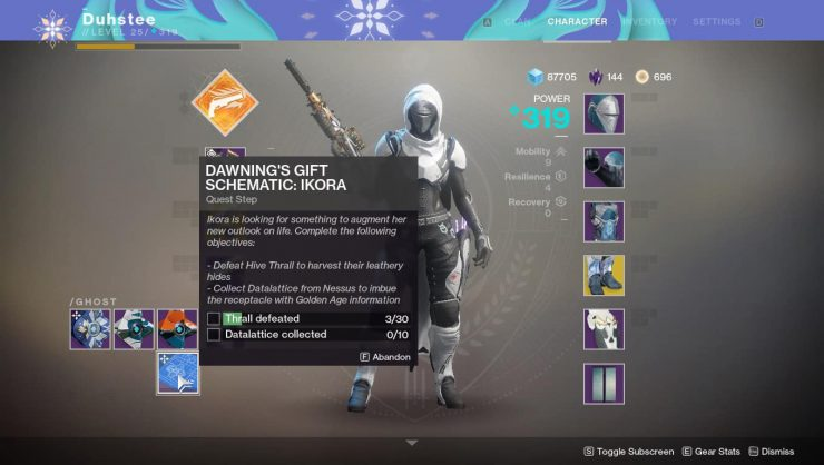 Destiny 2 - The Dawning's Gift Schematic: Ikora