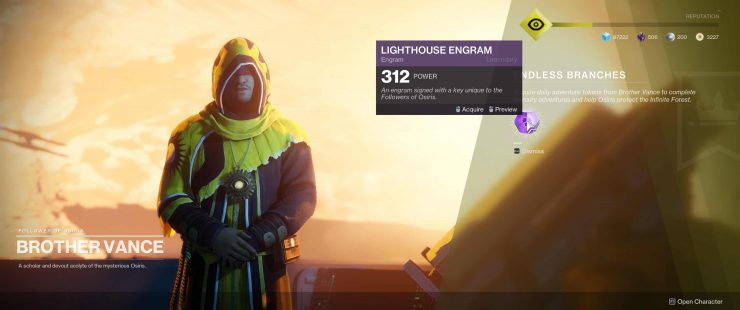 Destiny 2 - Get Lighthouse Engrams by Earning Mercury Tokens