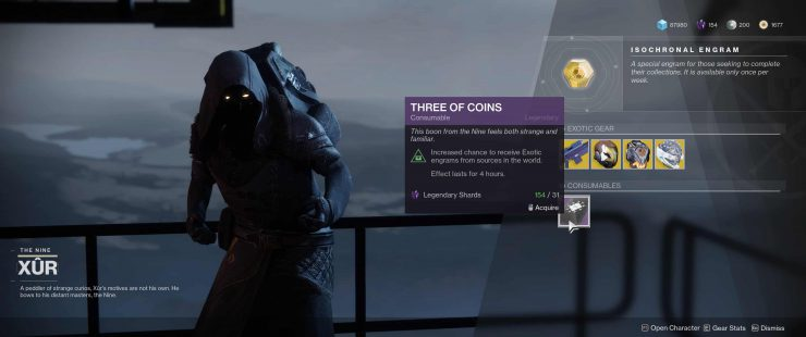 Destiny 2 - What is Three of Coins?
