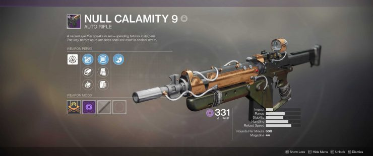 Destiny 2 - Lost Prophecy, Verse 9 - Null Calamity 9