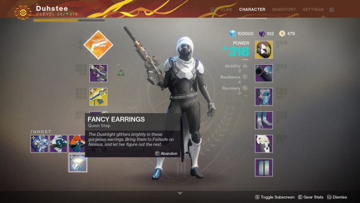 Destiny 2 - The Dawning's Gift Schematic: Failsafe