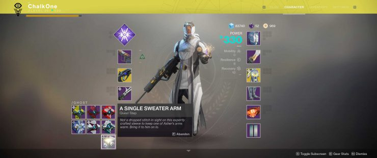Destiny 2 - The Dawning's Gift Schematic: Asher