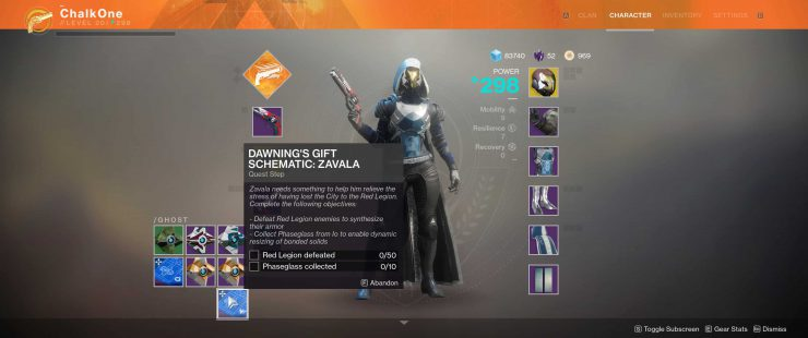 Destiny 2 - The Dawning's Gift Schematic: Zavala