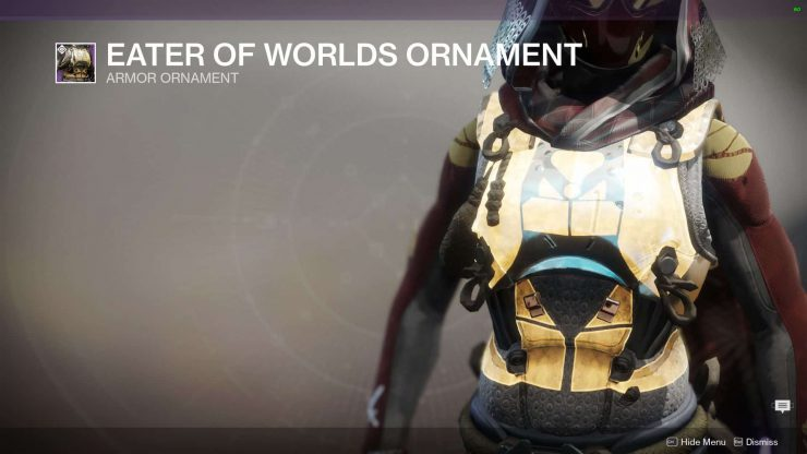 Destiny 2 - All Eater of Worlds Armor Ornaments