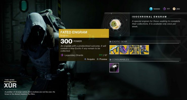 Destiny 2 - What are Fated Engrams from Xur?