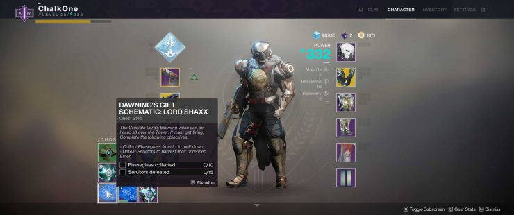 Destiny 2 - The Dawning's Gift Schematic: Lord Shaxx