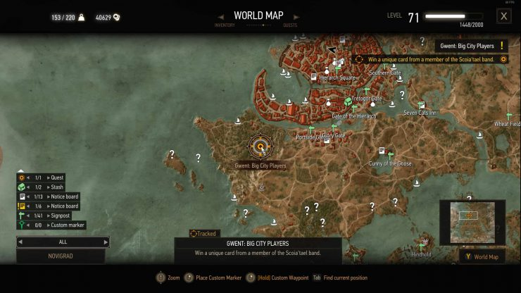 The Witcher 3 Ciri Gwent Card Location