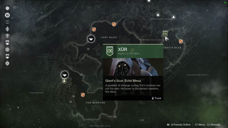 Destiny 2 - Where Is Xur for March 16, 2018?