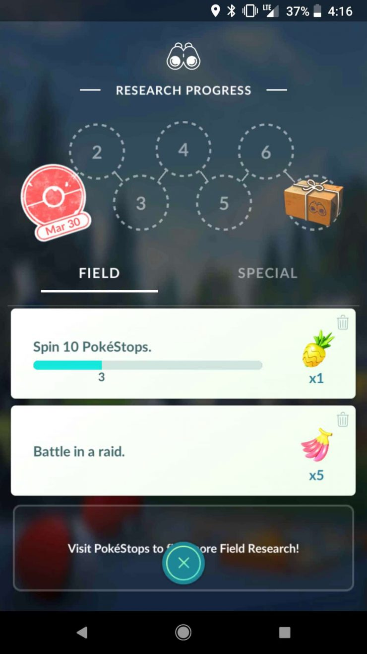 How to Start And Complete Field Research in Pokémon GO