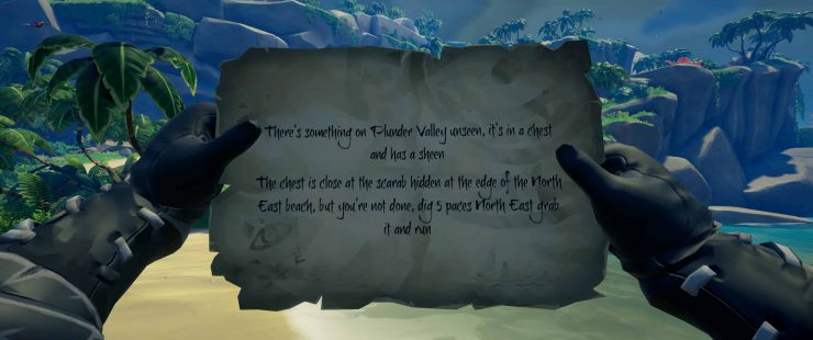 A Swag Bagged by the Notable Choke 'Im Coppens - Sea of Thieves Riddle