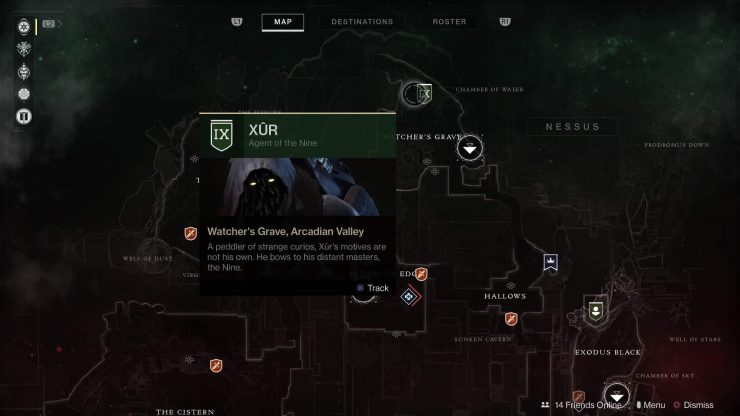Destiny 2 - Where Is Xur for March 9, 2018?
