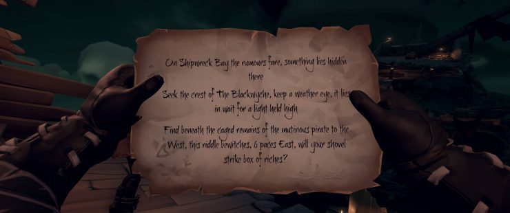 Shipwreck Bay Crest of The Blackwyche - Sea of Thieves Riddle