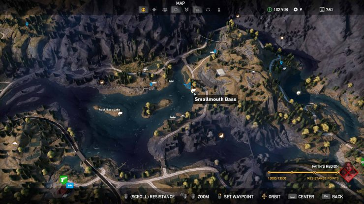 Smallmouth Bass Location Far Cry 5