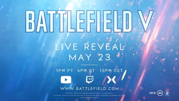 Battlefield V Live Reveal to Happen on May 23rd