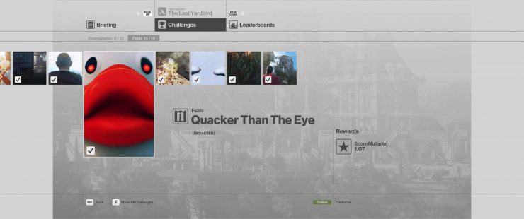 How to Complete the Quacker Than The Eye Feat in Hitman: Sniper Assassin