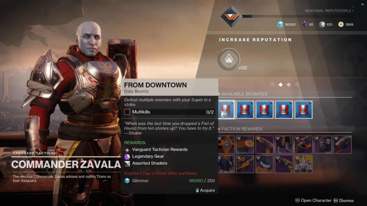 Destiny 2 - Bounties Guide, How To Get Them And Track Them