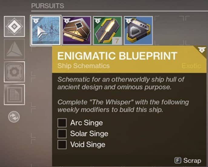 How to Get the Exotic Ship Blueprint From The Whisper Quest