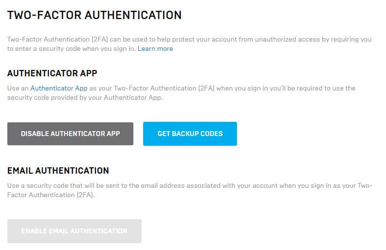 How to Enable Two-Factor Authentication for Epic Games Account