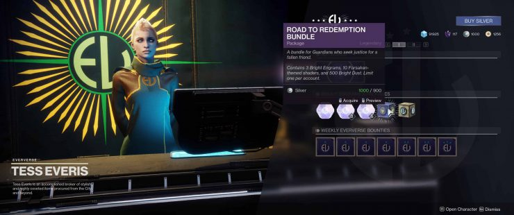 Destiny 2 - Not Enough Space for Road to Redemption Bundle