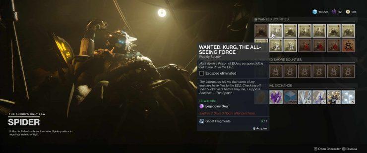 Destiny 2: Forsaken - Wanted: Kurg in the Pit in the EDZ
