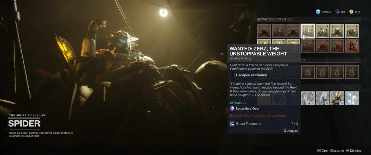 Destiny 2: Forsaken - Wanted: Zerz, The Unstoppable Weight in Pathfinder's Crash