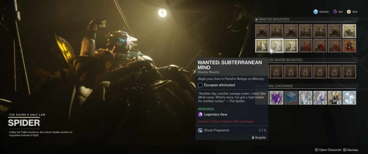 Destiny 2: Forsaken - Wanted: Subterranean Mind in Pariah's Refuge
