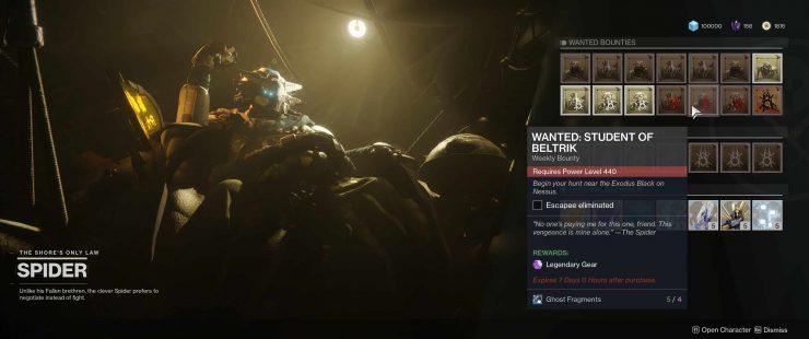 Destiny 2: Forsaken - Wanted: Student of Beltrik Near Exodus Black on Nessus